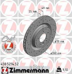 2x Zimmermann Brake Disc Land Rover Range Rover Sport Lw