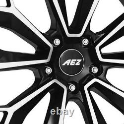 4 Aez Leipzig Dark Rims 9.5jx22 5x120 For Land Rover Discovery Sport Range Ro