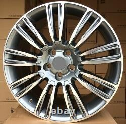 4x 22 Inch Alloy Wheels For Land Rover Velar Evoque Discovery Sport Et45 Rim