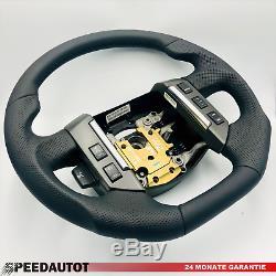 Flattened Tunung Black Leather Steering Wheel Land Rover Multif. Range Rover Sport 3