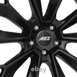4 AEZ Leipzig black Jantes 9.5Jx21 5x120 pour Land Rover Discovery Sport Range R