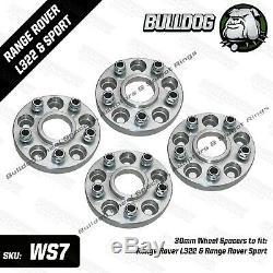 Bulldog 30mm Roue Entretoises pour Range Rover L322 & Range Rover Sport