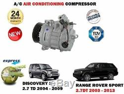 Pour Land Rover Discovery 3 Range Rover Sport 2.7 Dt 2004- AC Compresseur Air